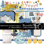 Beautiful Mess Embellishment Pack-$2.99 (Bisous By Suzanne Carillo)