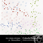 Colorful Beads Vol 1 Embellishment Pack-$1.49 (Fly Pixel Studio)