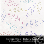 Colorful Beads Vol 2 Embellishment Pack-$1.49 (Fly Pixel Studio)