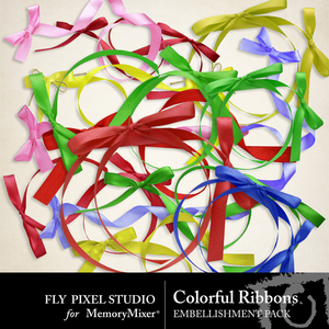 Colorful ribbons emb medium