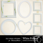 White Frame Embellishment Pack-$1.99 (Fly Pixel Studio)