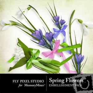 Spring flowers emb medium