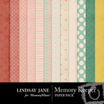 Memory Keeper Paper Pack-$3.49 (Lindsay Jane)