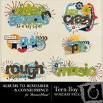Teen Boy WordArt Cluster Pack-$2.99 (Albums to Remember)