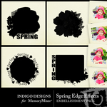 Spring Edge Effects Embellishment Pack-$2.49 (Indigo Designs)