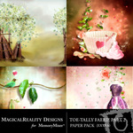 ToeTally Faerie Paper Pack 2 Extra-$1.49 (MagicalReality Designs)