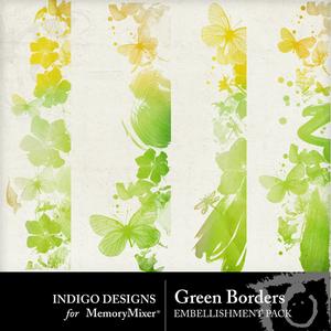 Green borders emb medium