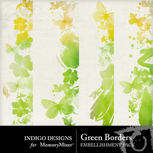 Green borders emb medium