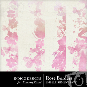 Rose borders emb medium