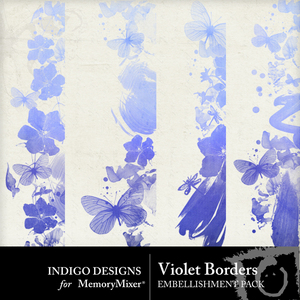 Violet borders emb medium