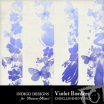 Violet borders emb small