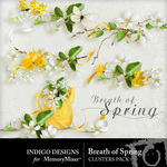Breath of Spring Clusters Pack-$1.99 (Indigo Designs)