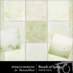 Breath of Spring Paper Pack-$3.99 (Indigo Designs)