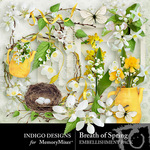 Breath of Spring Embellishment Pack-$2.99 (Indigo Designs)