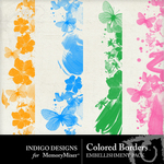 Colored Border Embellishment Pack-$1.99 (Indigo Designs)