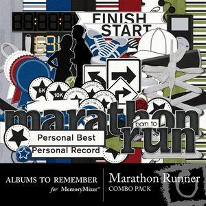 Marathon runner combo pack medium