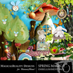 Spring Magic Embellishment Pack 1-$1.49 (MagicalReality Designs)