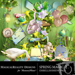 Spring Magic Embellishment Pack 2-$2.99 (MagicalReality Designs)