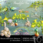 Spring Magic WordArt Pack-$1.99 (MagicalReality Designs)
