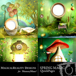 Spring Magic Quick Page QuickMix-$3.49 (MagicalReality Designs)