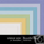 Beautiful Day Embossed Paper Pack-$1.99 (Lindsay Jane)