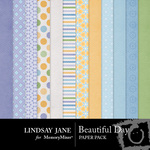 Beautiful Day Paper Pack-$3.49 (Lindsay Jane)