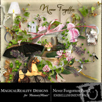 Never Forgotten Embellishment Pack 2-$2.99 (MagicalReality Designs)