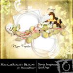 Never Forgotten Free Quick Page QuickMix-$0.00 (MagicalReality Designs)