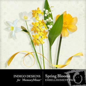 Spring blooms emb medium