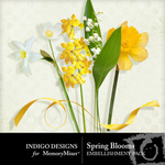 Spring Blooms Embellishment Pack-$1.49 (Indigo Designs)
