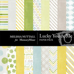 Lucky You and Me Paper Pack-$3.99 (Melissa Nuttall)
