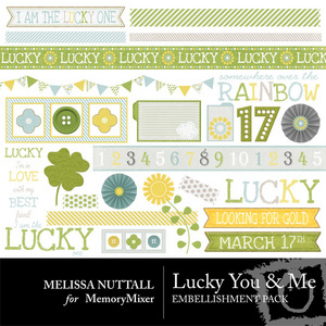 Lucky you and me emb medium