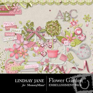 Flower garden emb medium