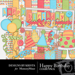 Happy Birthday DBK Combo Pack-$4.49 (Designs by Krista)