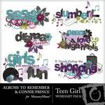 Teen Girl WordArt Pack-$2.99 (Albums to Remember)