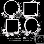 Birds Song White Frame Pack-$1.99 (Indigo Designs)