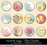 Hey Chickie Flair Pack-$1.99 (Fayette Designs)