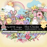 Hey Chickie Embellishment Pack-$3.49 (Ettes and Company by Fayette)