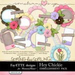 Hey Chickie Add-On Embellishment Pack-$2.49 (Ettes and Company by Fayette)