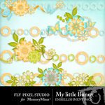 My Little Bunny Border Pack-$1.00 (Fly Pixel Studio)