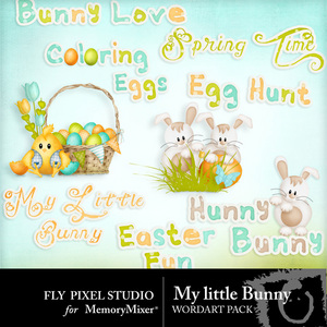 My little bunny wordart pack medium