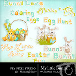 My little bunny wordart pack small