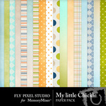 My Little Chickie Paper Pack-$1.75 (Fly Pixel Studio)