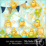 My Little Chickie Embellishment Pack-$1.50 (Fly Pixel Studio)