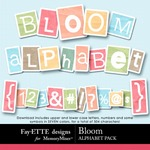 Bloom Alphabet Pack-$3.49 (Ettes and Company by Fayette)