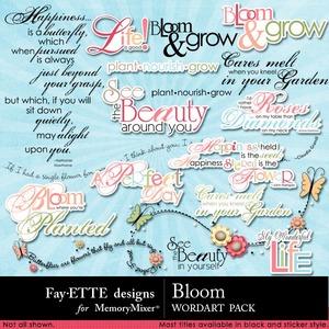 Bloom wordart medium