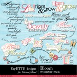 Bloom WordArt Pack-$1.00 (Fayette Designs)