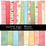 Bloom Paper Pack-$3.99 (Fayette Designs)