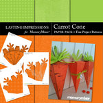 Carrot Cone Paper W Free Project Patterns-$1.99 (Lasting Impressions)