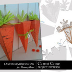 Carrot Cone Project Patterns-$0.50 (Lasting Impressions)